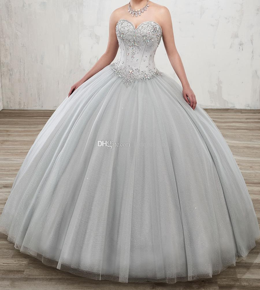And quinceanera silver dresses foto