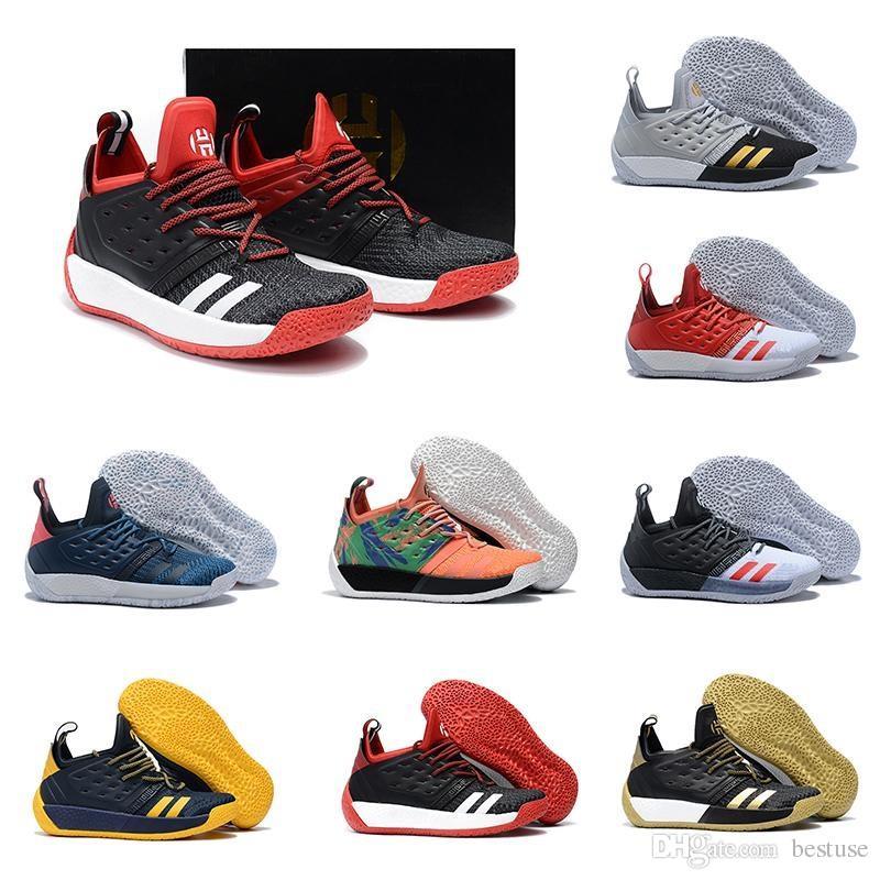b86bb38cf44b 2018 New Arrival James Harden Vol 2 Basketball Shoes Black White Red Mens Harden  Vol.2 Sneakers For Sale Size 40 46 Jordans Sneakers Sneakers Sale From ...