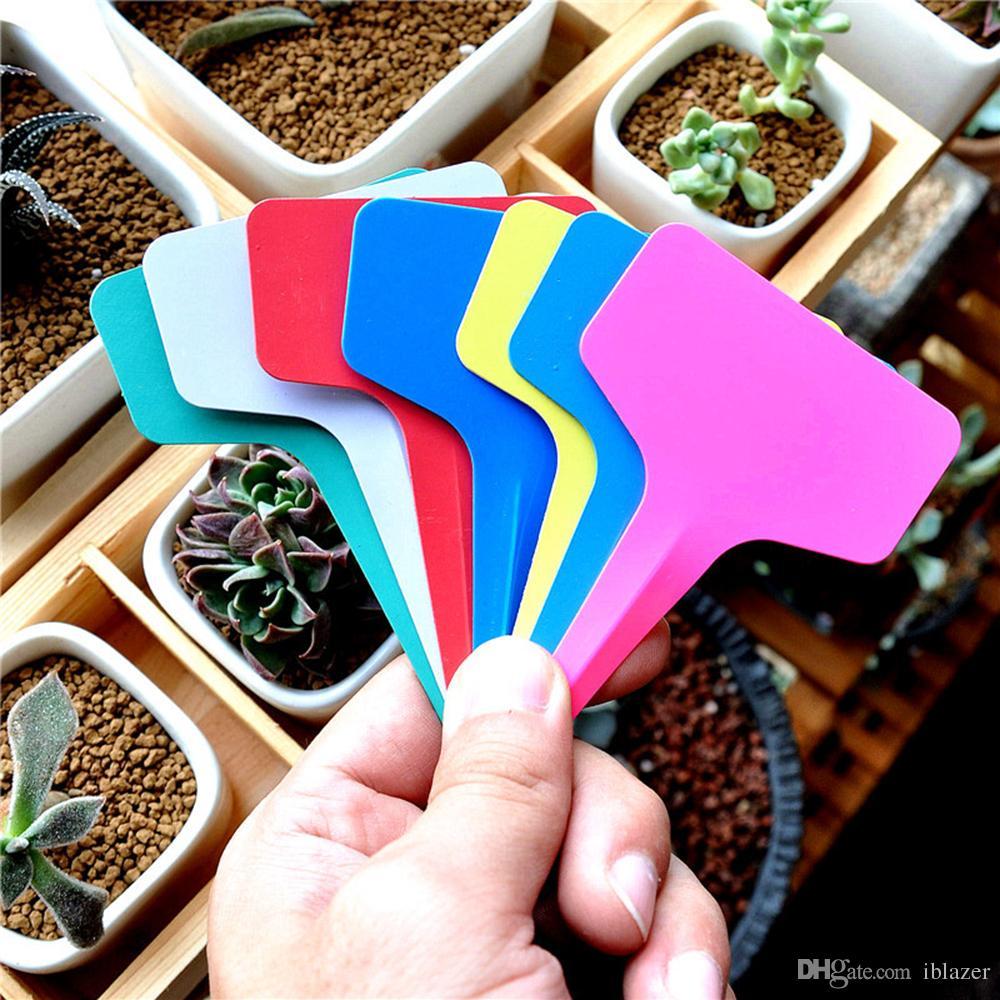 Plástico Impermeável Planta Berçário Jardim Etiquetas T Tipo Tags Marcadores Estacas Jardim Rótulos Reutilizáveis Preço Etiqueta