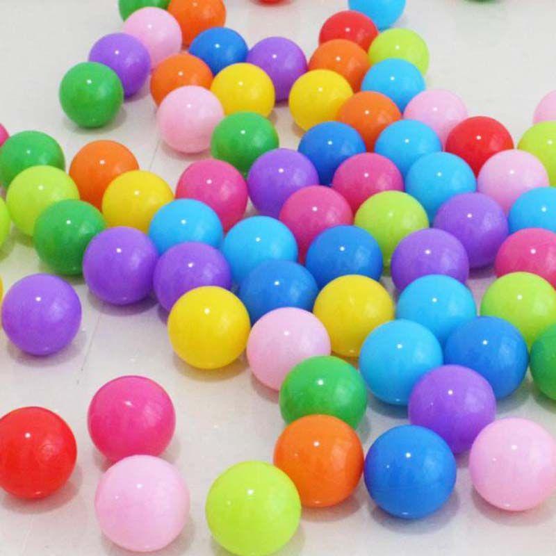 100 pièces 5 cm d'épaisseur balle marine boule de bain bébé écologique enfants jouets de plein air boule de vague de jouet multicolor