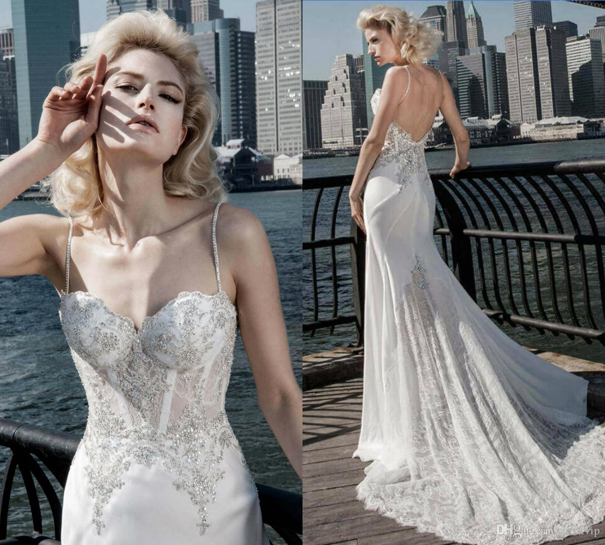 Pnina Tornai 2019 Wedding Dresses: Discount Sexy Pnina Tornai 2019 Wedding Dresses A Line