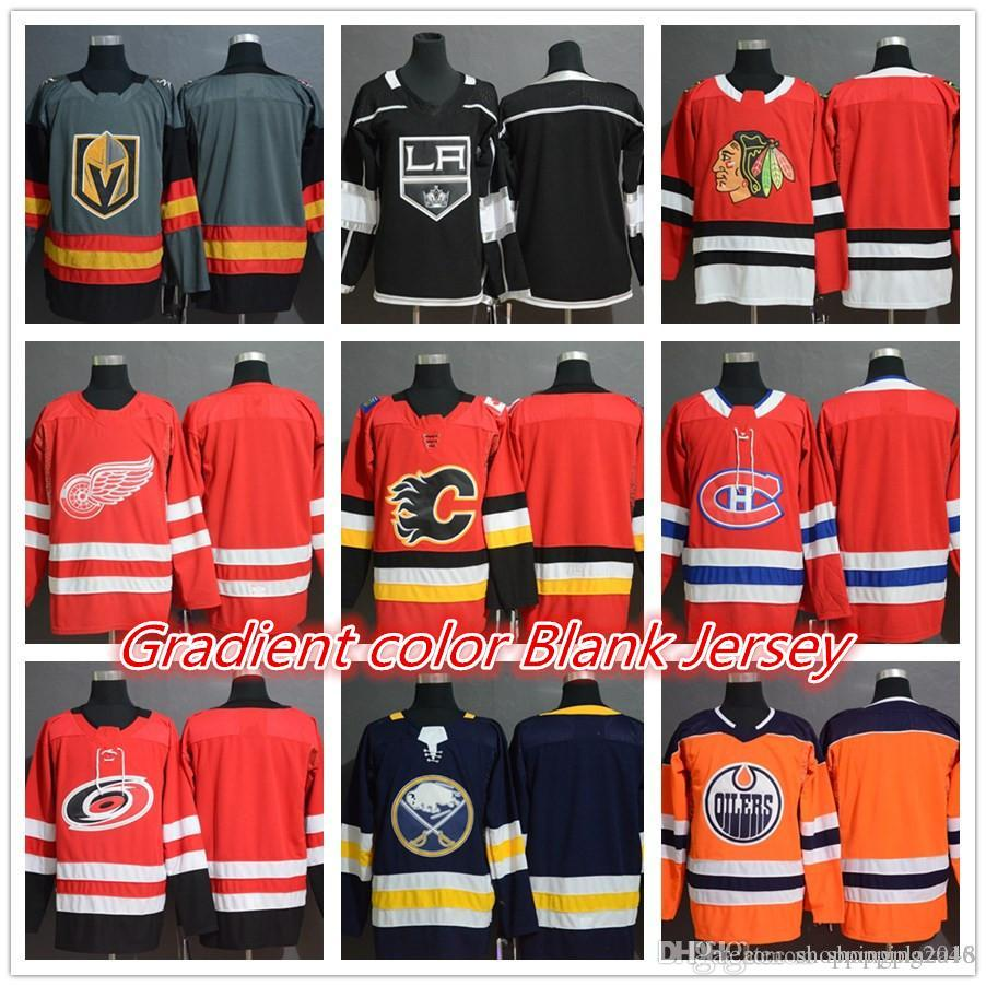 2019 Vegas Golden Knights Los Angeles Kings Chicago Blackhawks Detroit Red  Wings Calgary Flames Montreal Canadiens Hockey Jerseys Blank Gradient From  ... 0c2db6308