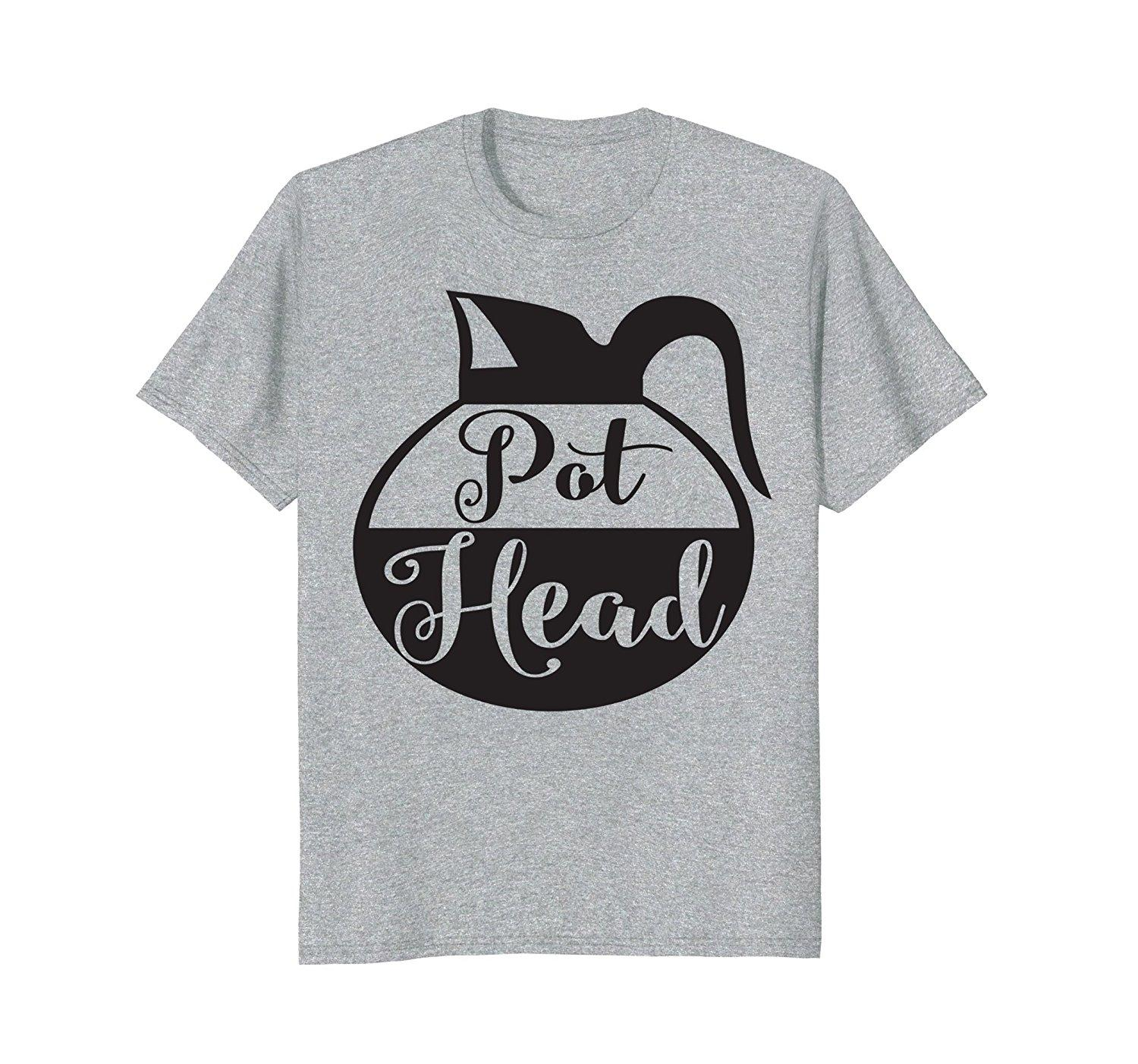 25aa7aa4d84 Pot Head T Shirt Funny Coffee Pot Shirt Brew Lover Addict Short Sleeve T  Shirt Fashion Casual Man Tees Mens Tops Personality Funny Rude T Shirts  Trendy Mens ...