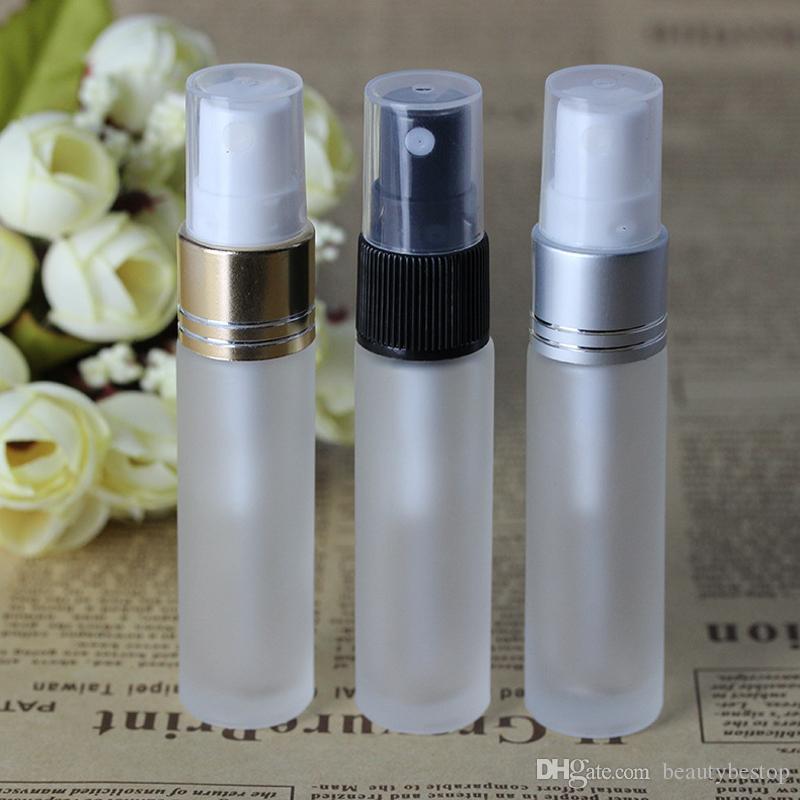600 adet / grup Buzlu Temizle 10 ml boş cam sprey şişeleri kozmetik kapları taşınabilir seyahat doldurulabilir parfüm atomizer Şişesi