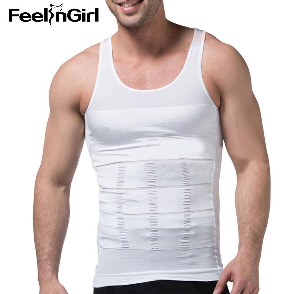 37425a48a5c99 FeelinGirl Men Slimming Underwear Body Shaper Waist Cincher Corset Top  Tummy Belly Body Shapewear Men Shaper Vest Underwear-C Shapers Cheap Shapers  ...