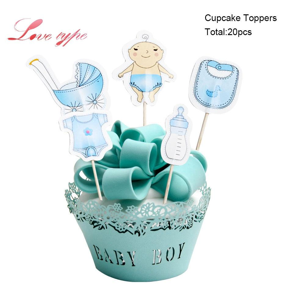 2019 Ecoration For Baby Shower BoyAmpGirl Birthday Party Cupcake Toppers Decoration Home Cake Topp