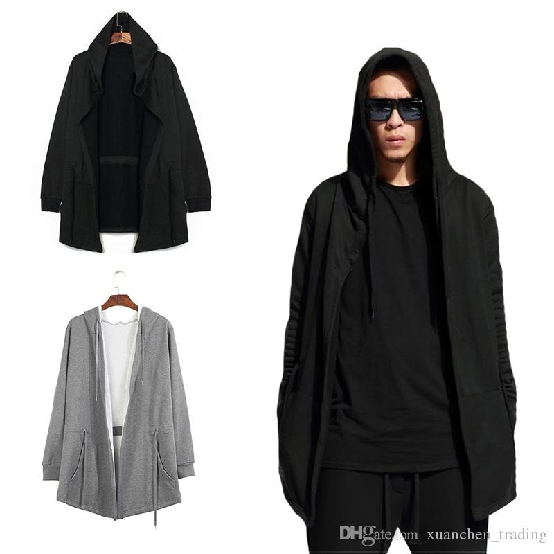 2019 Men S Windbreaker Cardigan Hooded Long Cloak Casual Jacket Cosplay  Clothing Hooded Cardigan Cloak Coat Top Blouse From Xuanchen trading 5e6464554