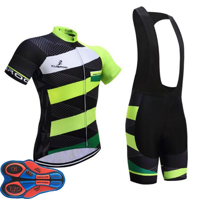 UCI Team Twill Style Cycling Jersey 9D Pad Bike Shorts Set MTB Mens ... 7cb61ff91
