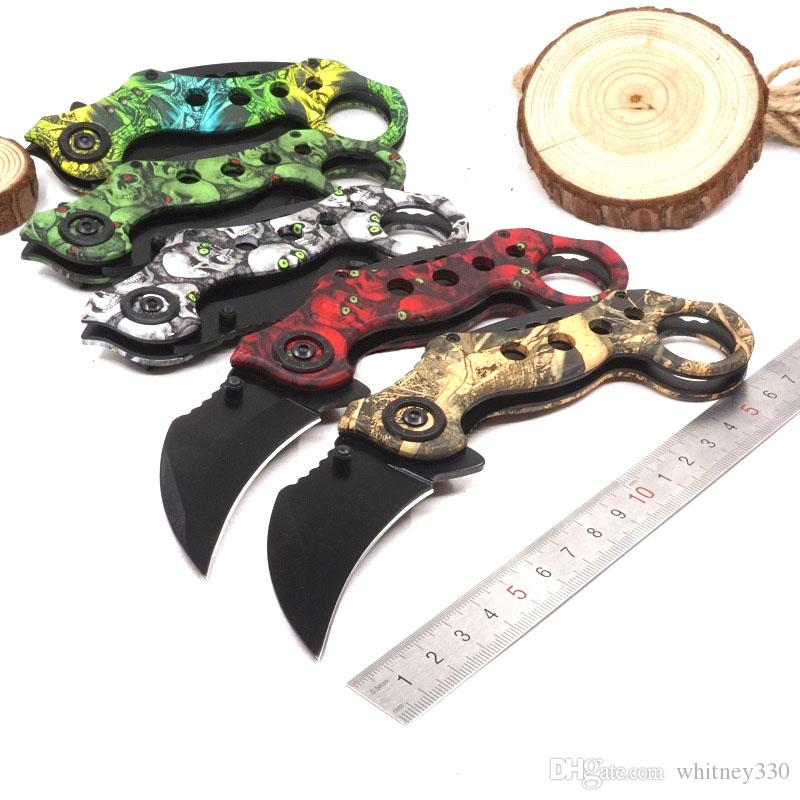 Outdoor csgo Karambit knife Hunting Camping Knives cs go Folding Tactical Pocket Survival Knives Scorpion Claw Knifes EDC Tool