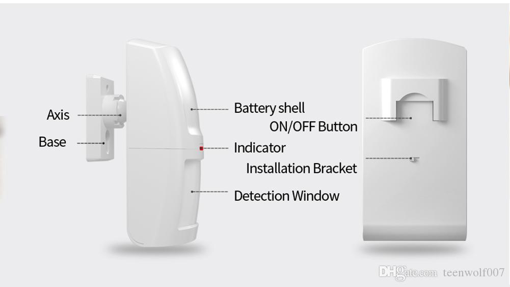 Wolf-Guard Wireless PIR Motion Sensor Detector Anti-Tamper Alarm for Home Security Alarm System 3G/GSM Alarm Panel 433MHZ HW-03D