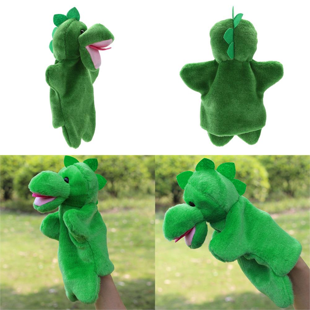 Cute Dinosaur Hand Puppet Baby Kid Sleep Story Accessory Hand Doll Puppet Soft Kawaii Plush Doll Game Playing Toys for Children