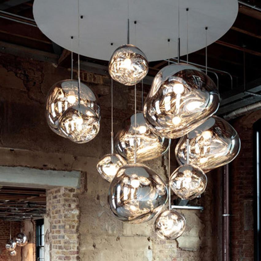 Modern Lights Led Chandelier Tom Dixon Melt Lava Pendant Lamps