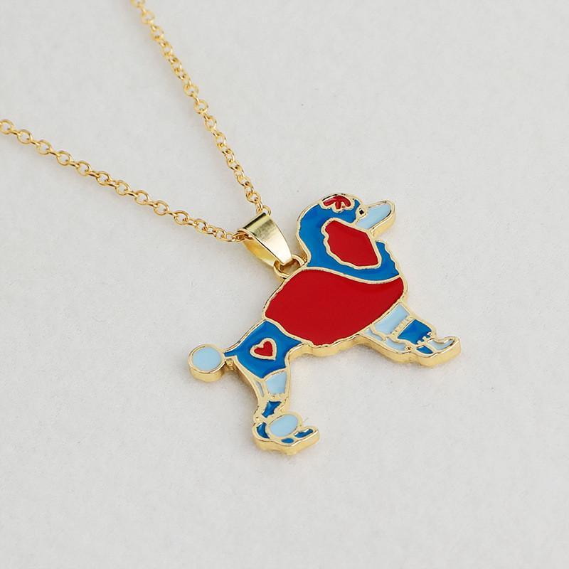 Moda Lindo Perro Esmalte Collar Cachorro Perro Chapado En Oro Mascota Collares pendientes de La Joyería Para Las Mujeres de Regalo