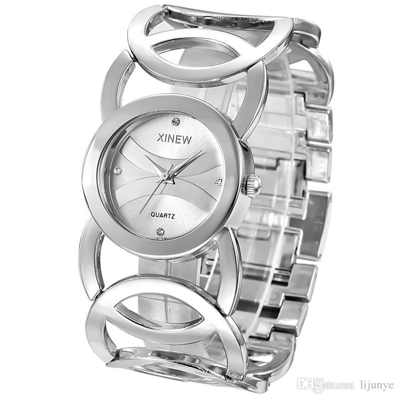 I regali casuali della vigilanza dell'acciaio inossidabile di modo dell'orologio del quarzo del braccialetto dell'orologio delle signore di qualità superiore 2018 liberano il trasporto