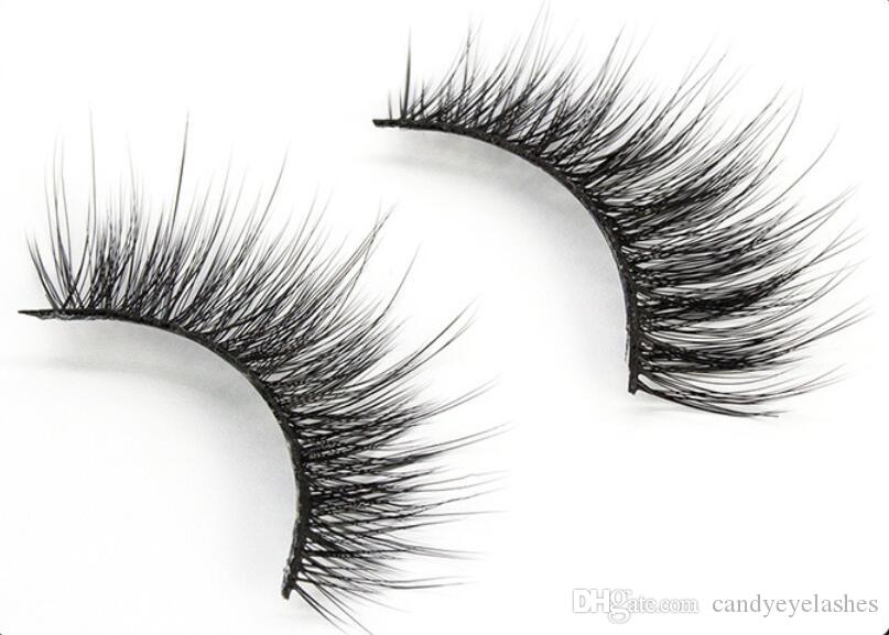 FX05 natural largo pestañas falsas hechas a mano maquillaje falso pestañas 3d visón eyela 3D seda Faux Mink Strip crueldad pestañas de visón libre para el maquillaje