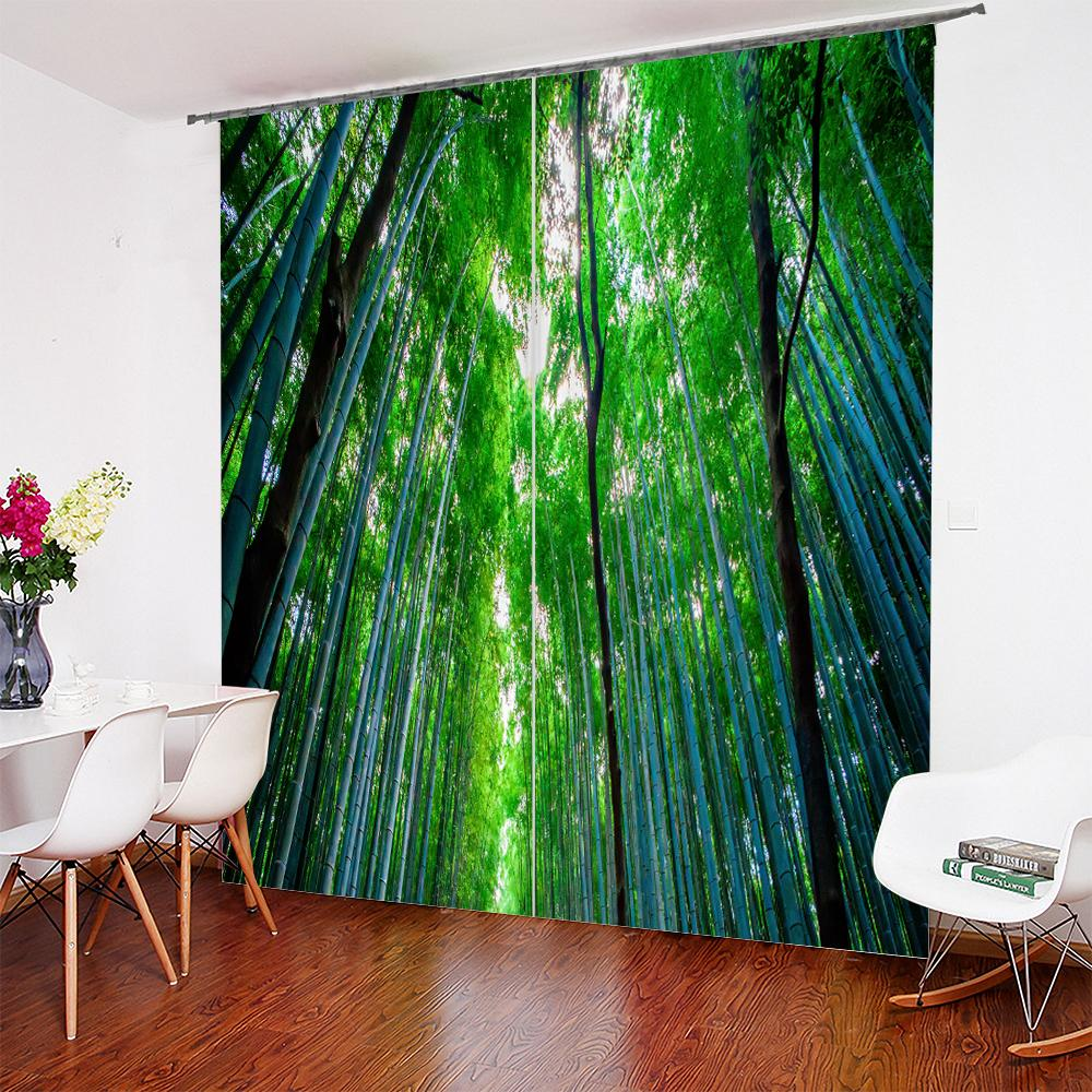 2019 3d japanese bamboo forest design curtain personalized curtain rh dhgate com