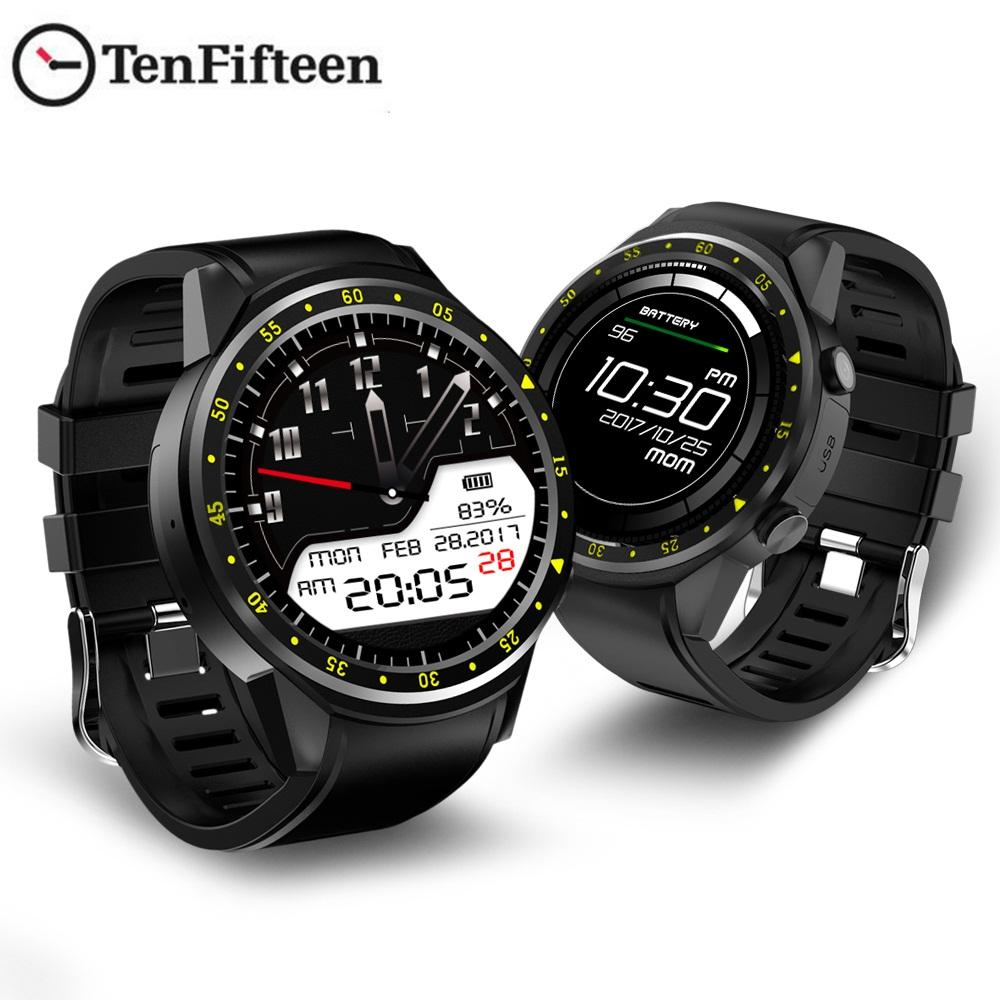 TenFifteen F1 Sports Smartwatch GPS Smart Watch Phone 2G MTK2503 Dual Beidou Camera Sleep Monitor Heart Rate SIM Card