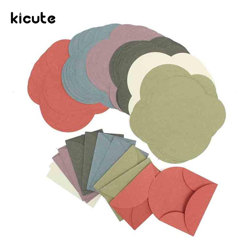2019 Kicute Elegant Vintage Colorful Colored Blank Mini Paper