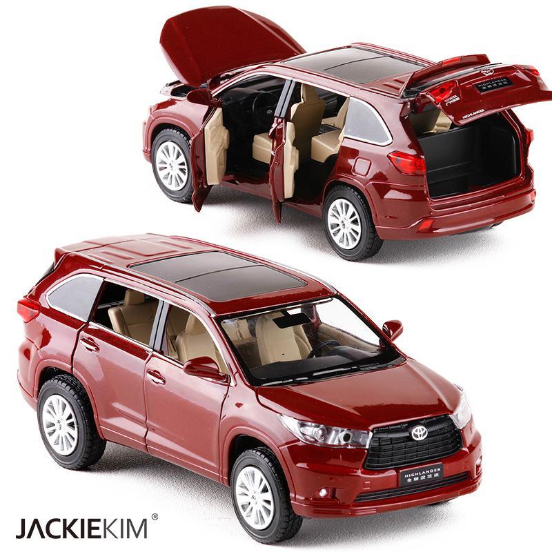 2018 New 1:32 TOYOTA Highlander Alloy Diecast SUV Car Model Toys For ...