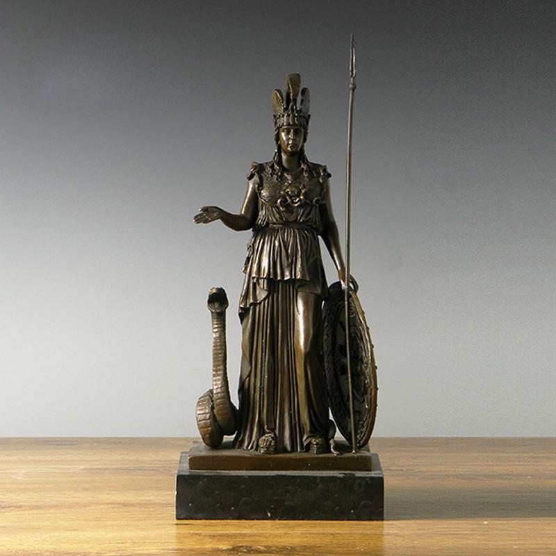 Großhandel Atlie Bronzen Mythologie Athena Bronze Statue Göttin Der ...
