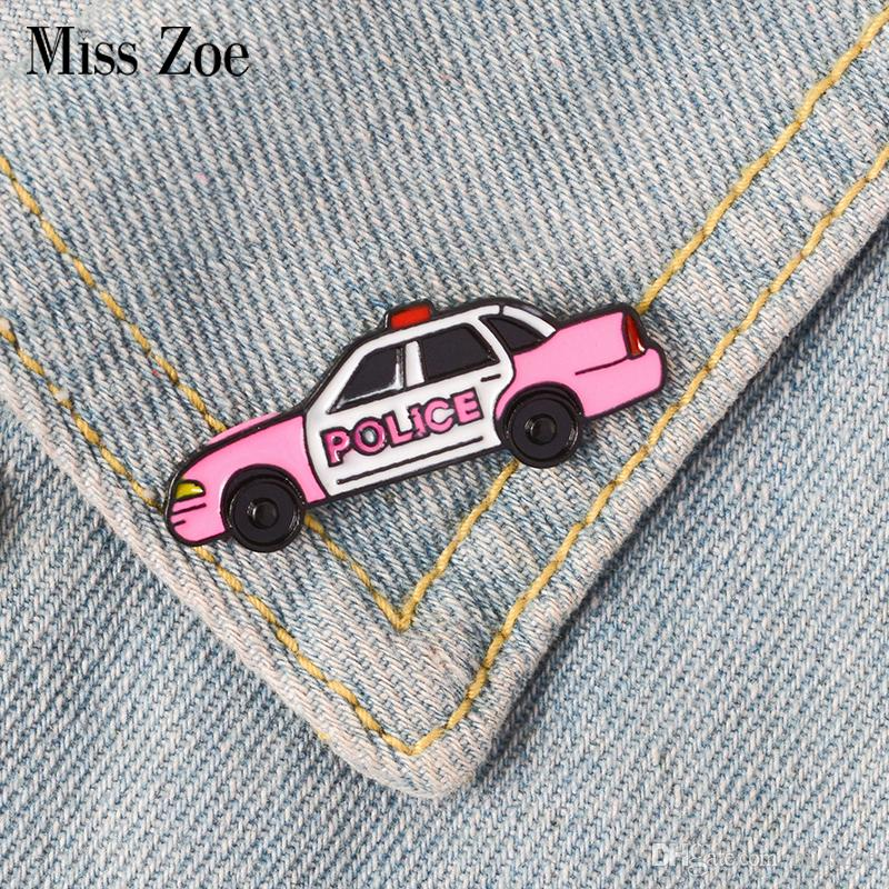 Cartoon Mignonne Badge Voiture Jeans Pour Ancienne Cadeau Émail Rose Broche En Épinglette Bijoux Chemise Police Sac De Denim 3JTKFcl1