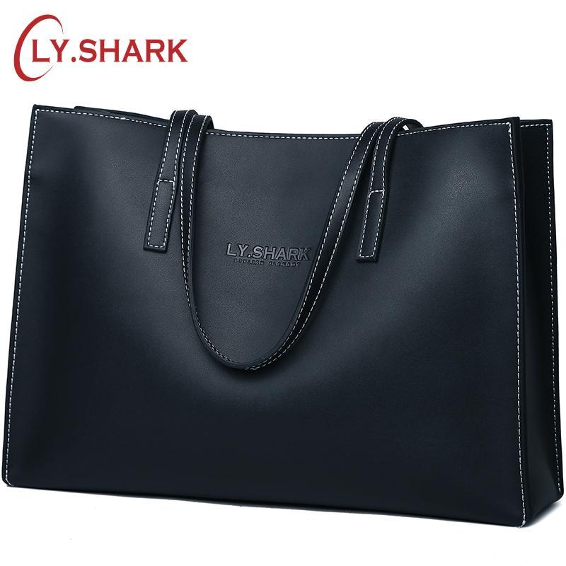 ca24d76d347 LY.SHARK Luxury Handbags Women Bags Designer Ladies Genuine Leather Bags  Shoulder Large Capacity Tote Top-handle Purse