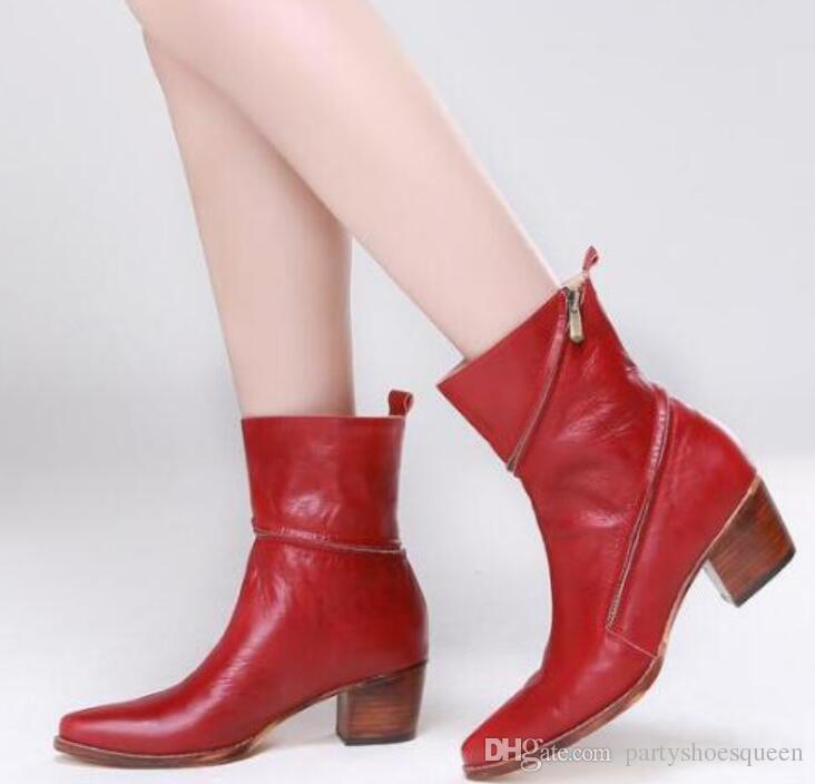 2018 Fashion Fashion Women Red Boots