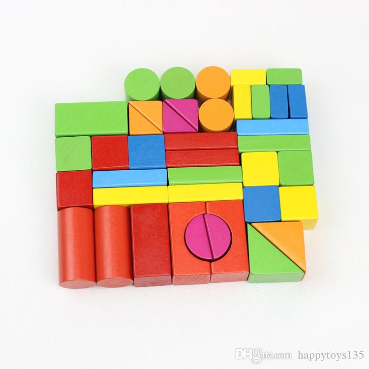 wood blocks baby toys 1-6 years old girl or boy toys blocks bricks for baby gift wholesale educational parent-child toys