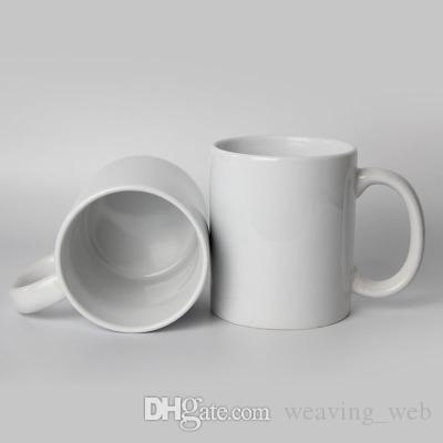 320ml Sublimation mug Ceramic Mugs 11oz white mug 36pcs/case milk cup tea  drinkware for kids adults