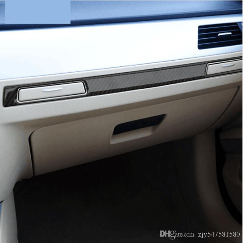 Pour BMW E90 Fiber De Carbone autocollant Decal Autocollants Décoration De Voiture Autocollants Auto Intérieur Accessoires De Voiture Style Tasse Titulaire Copilot