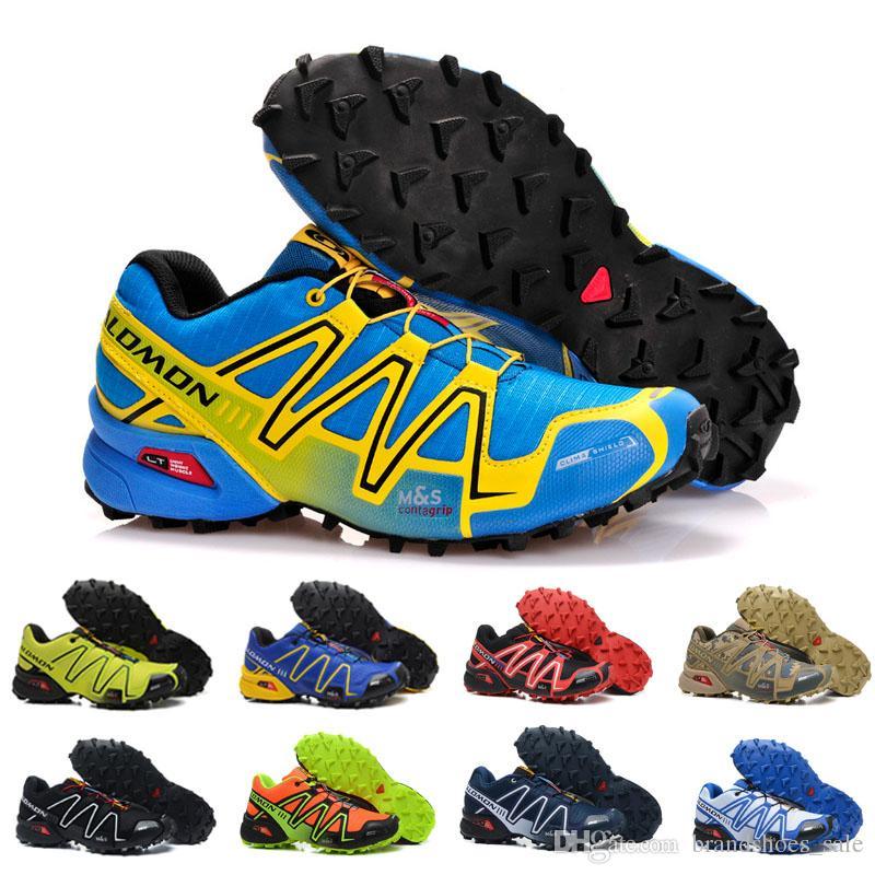 online retailer 5753b 0acd8 Compre 2018 NUEVOS Zapatos Salomon Para Hombre Zapatos Hombre Speed Cross 3  CS III Sport Sneakers Hombre Negro Al Aire Libre Speedcross Solomon Zapatos  ...
