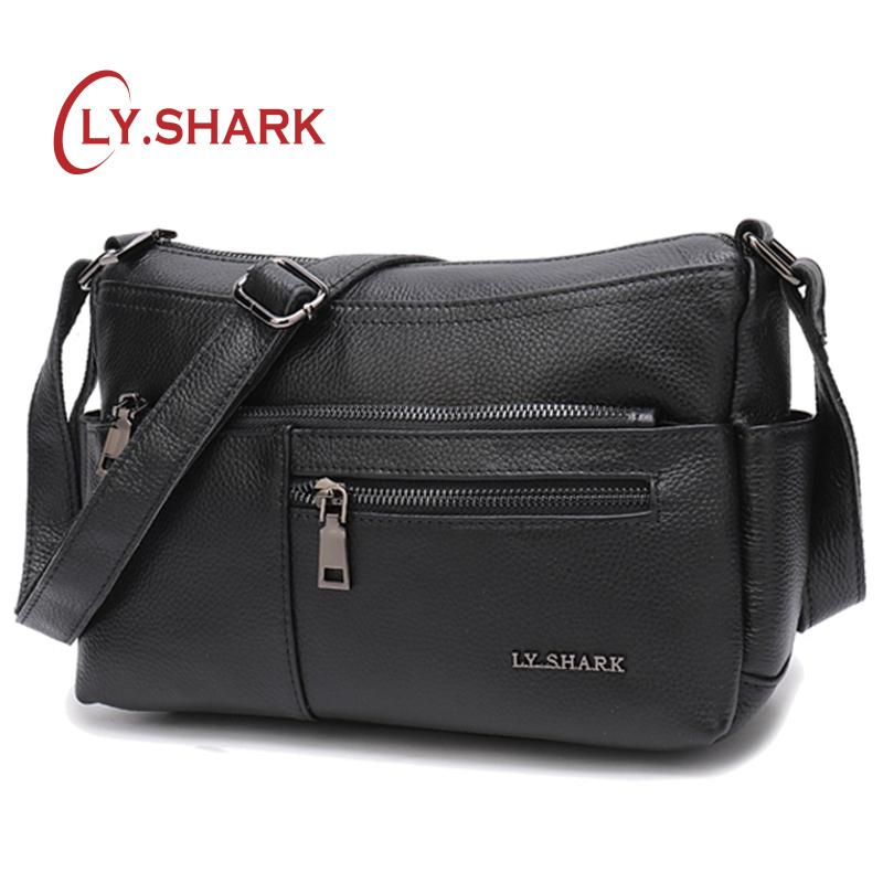 b5c87c910f97 SHARK Ladies  Genuine Leather Bag Women s Over-the-shoulder Bags Crossbody  Bags For Women Luxury Women Designer Top-Handle Bags Cheap Top-Handle Bags  LY.