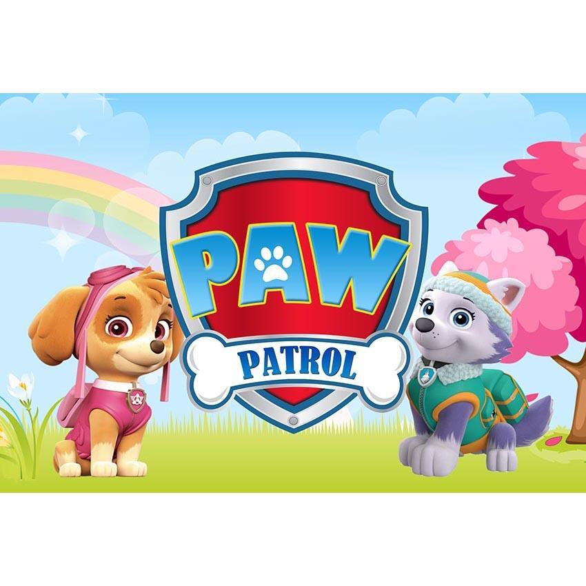 Cartoon Hunde Geburtstag Foto Hintergrund Junge Mädchen Baby Geburtstag Party Benutzerdefinierte Banner Fotografie Hintergrund Foto Studio