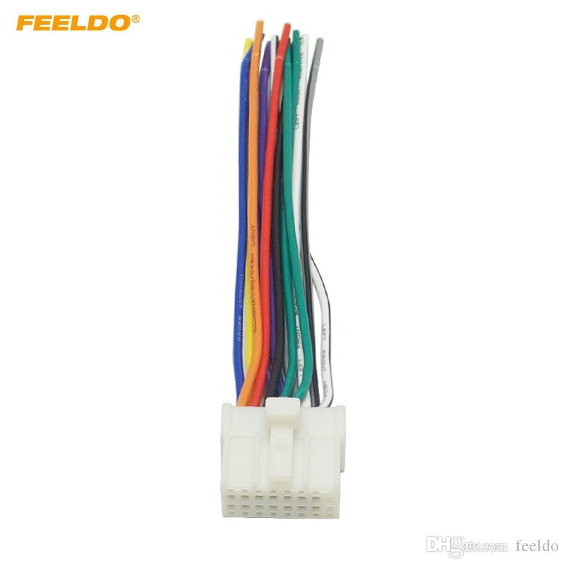 2018 Feeldo Car Stereo Radio 16pin Wire Harness For Mitsubishi ... on mitsubishi eclipse radio harness, mitsubishi car radio wiring, 2001 mitsubishi eclipse headlight wire harness,