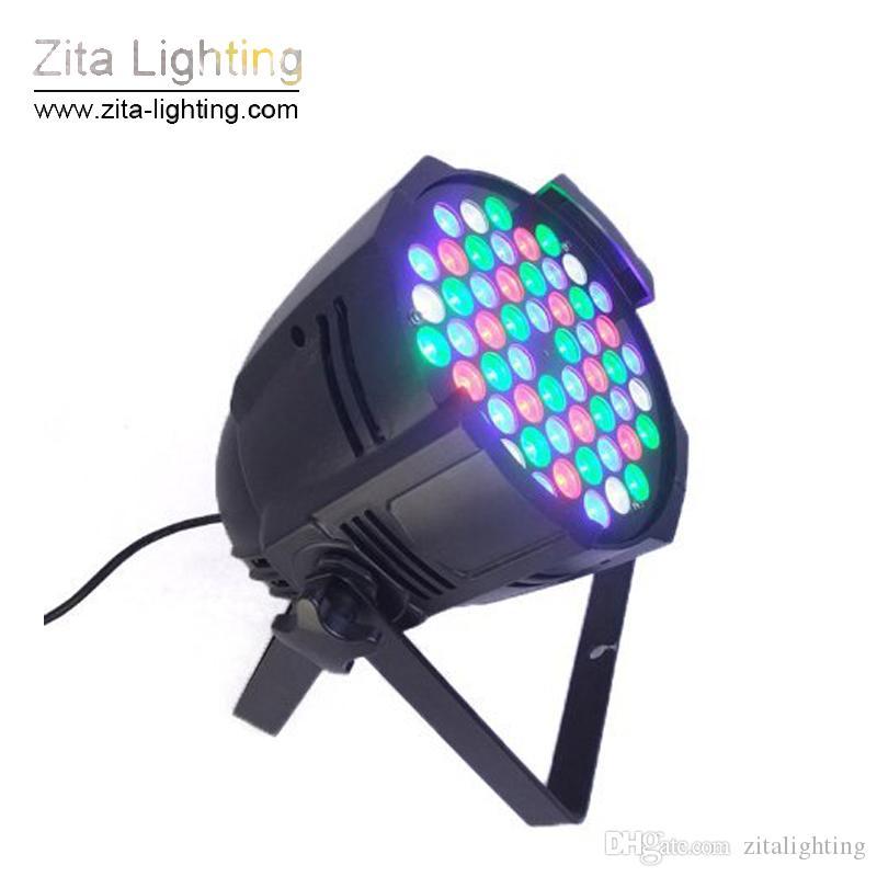 Wedding Party Bar Zita Iluminação LED Par luzes RGBW Par64 54X3W Par Can DMX512 iluminação de palco Edifício Wall Washer DJ Disco Efeito de Luz