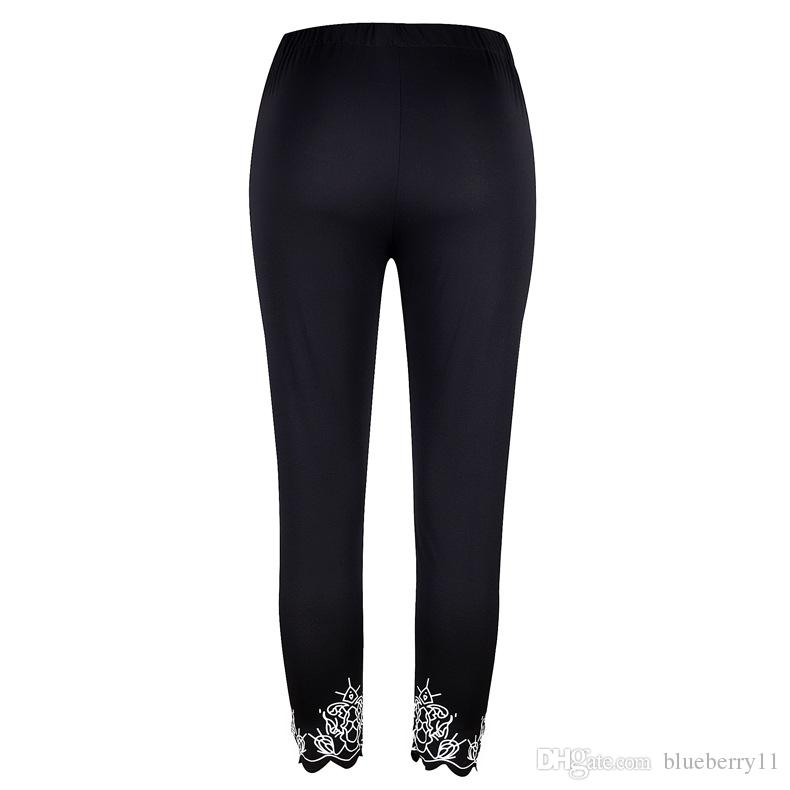 Fashion Ladies Print Breathable Stretch Long Pant Skinny Leggings Womens Athletic Joggers Women Clothing Size S-5XL
