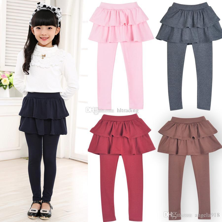 f87253326 2019 Girls Fake Two Pieces Skirt Pants 2018 Autumn Spring Baby ...