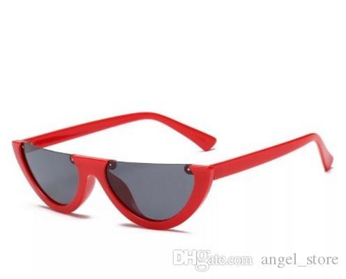 9bfda4161 Compre 2018 New Retro Cat Eye Sunglasses Mulheres Meia Rodada Óculos De Sol  Moda Óculos De Sol Do Vintage Uv400 Clout Óculos Zonnebril Mannen De  Angel_store ...