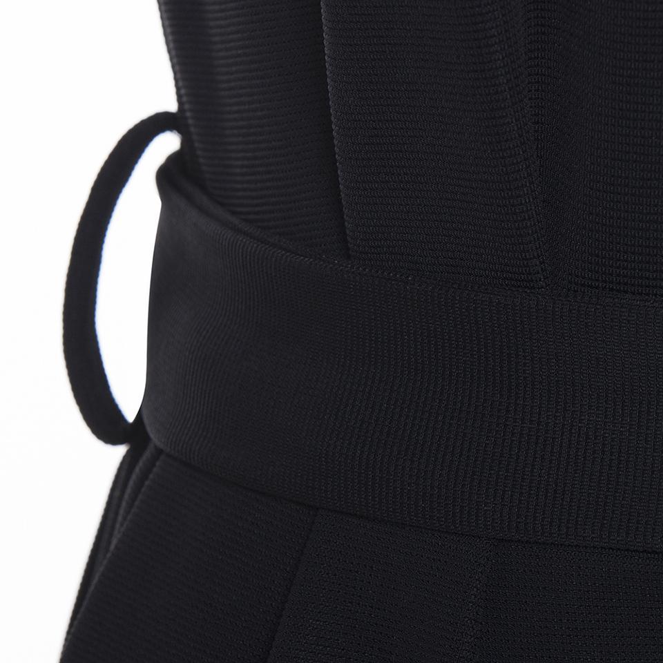 Mono delgado de cuerpo entero anchas piernas de las mujeres Negro Sólido llano con cordones de flacos del mono de 2018 mujeres atractivas de moda moderna