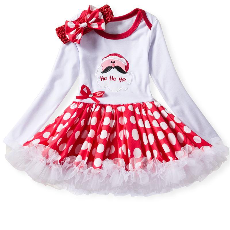 1ea0546a88849 Compre Ropa De Niña De Invierno Vestido De Navidad Para Niños Pequeños  Vestido De Princesa De Manga Larga Para Niñas Fiesta De Cumpleaños Infantil  24 6 12 ...