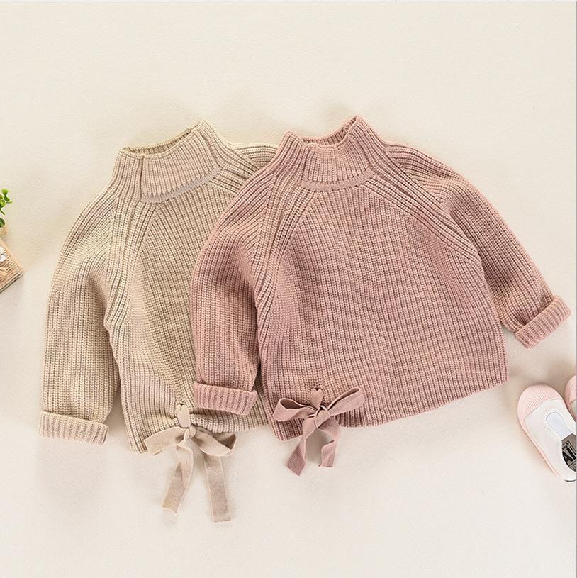 c8da1a0bc Kids Sweater 2018 Fall Girl Knitting Sweater Fashion High Grade ...