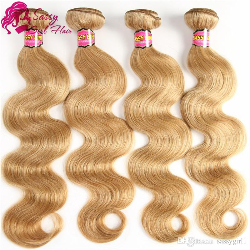 Honey Blonde Brazilian Hair Bundles Body Wave Weave Blonde Human Hair Bundles Virgin Hair SASSY GIRL