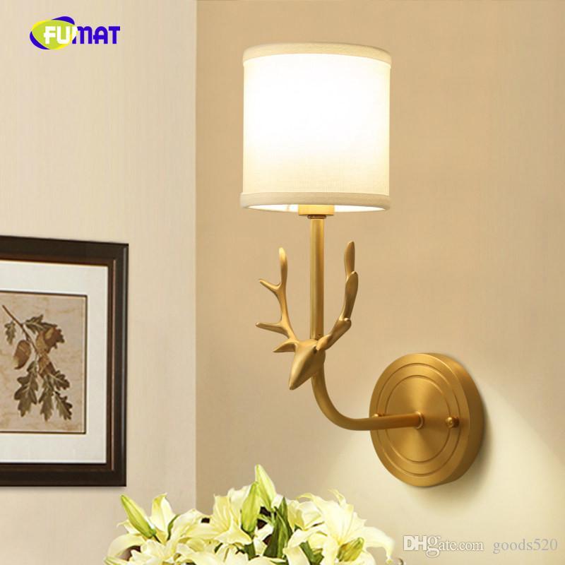 De Corridor Cerf Lecture Plein Murale Américain Lampe Cuivre Appliques Murales Éclairage Interieur Tête Pour Chambre Chevet tQdohCsrxB