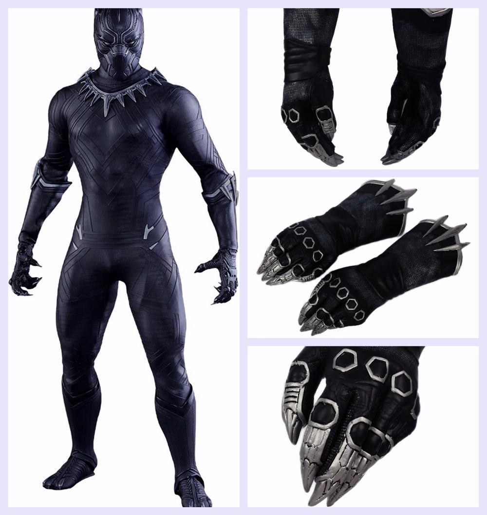Black Panther Claw Gloves Superhero Paw Sword Captain America 3 ...