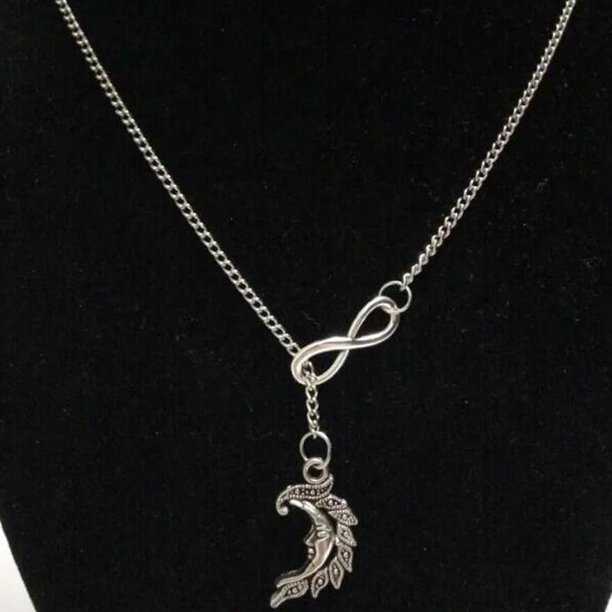 Şanslı 8Fitness Dambıl / Denizyıldızı / Hazine Anahtar / Ay Vintage gümüş charm kazak zinciri necklacebracelet DIY Kadınlar takı Aksesuarları A47