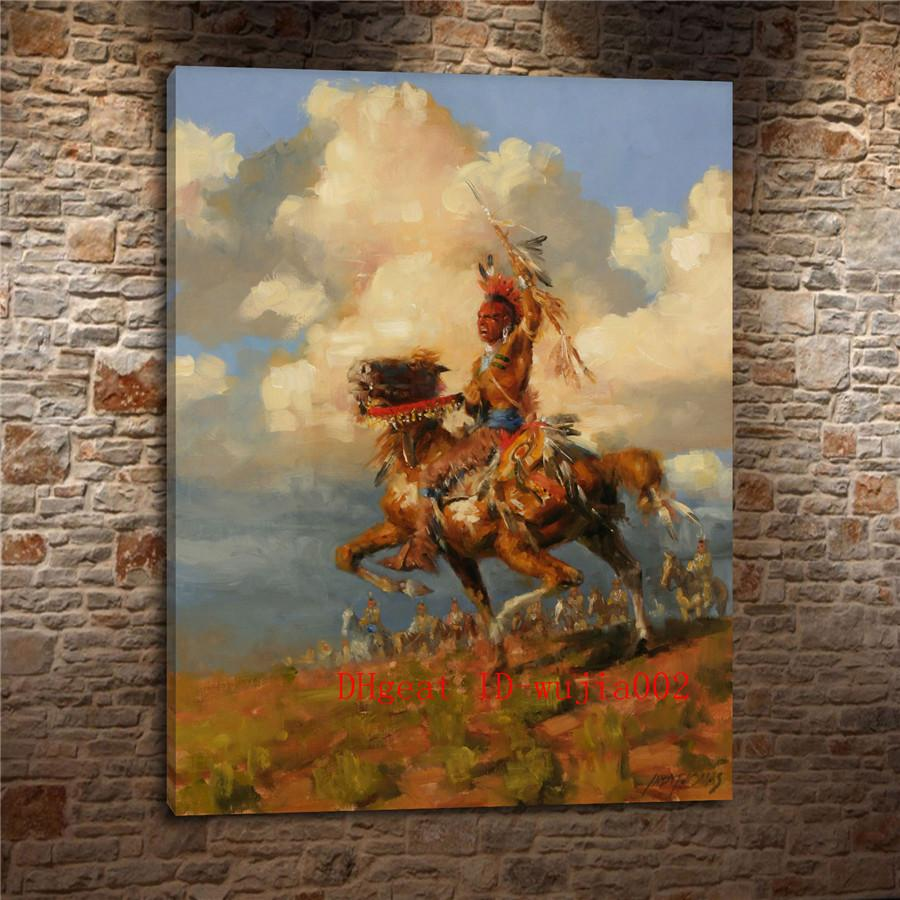 2019 Osage Indians Canvas Painting Living Room Home Decor Modern