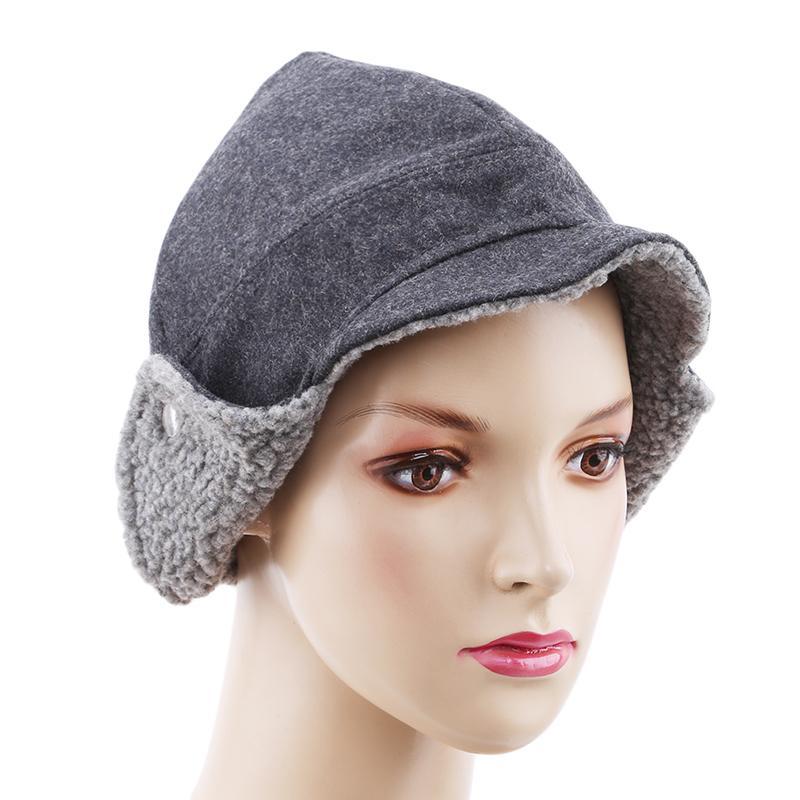 d9cdcd70 Compre Sombreros De Invierno Para Mujeres Caballero Sombrero De Piel De  Cordero Bomber Sombrero Mujer A Prueba De Viento Protección Para Los Oídos  Grueso ...