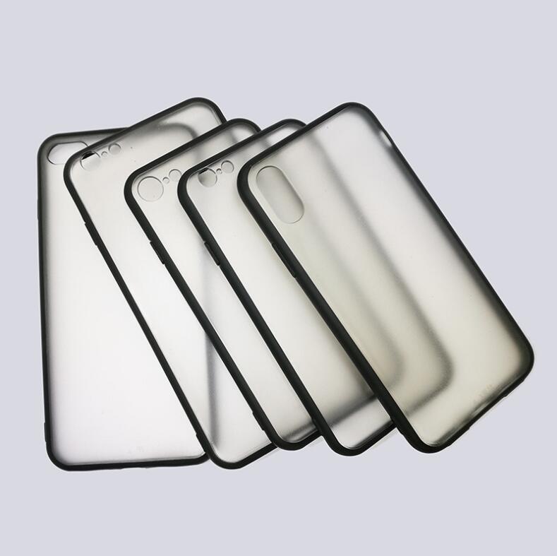 7368f0fa16a Fundas Para Moviles Personalizadas Carcasa Protectora Mate Para IPhone 4 5  6 7 8 Más X Material Pintado Caja Del Teléfono Suave Parachoques Negro +  Cubierta ...