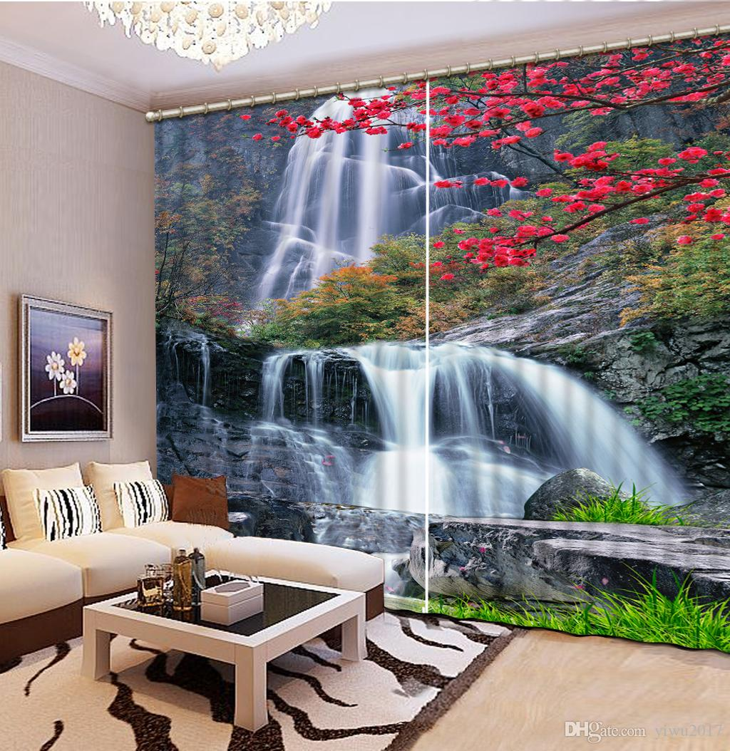 2021 Modern Curtains Waterfall Landscape Rustic Home Decor Curtain For Living Room Blackout Window Bedroom From Yiwu2017 66 Dhgate Com