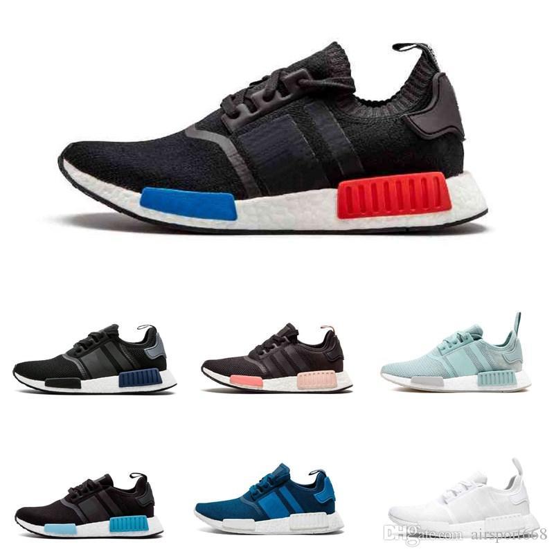 Mode Adidas BlauSchwarzChalk Coral Adidas Nmd_R1 Stlt